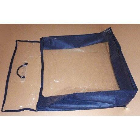 Bag with plastic cloth